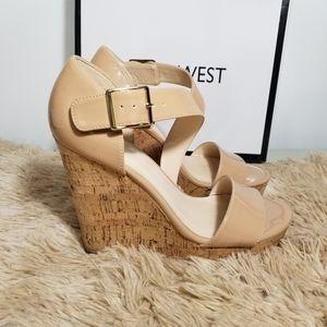 Nine West Foley Platform Wedges Patent Leather
